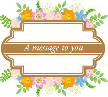 Message flower blossoms