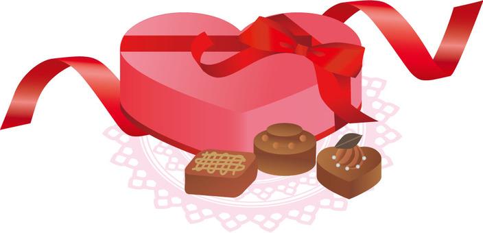 Heart chocolate gift