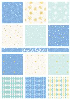 겨울 패턴 세트