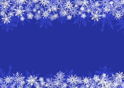 Winter snow blue above