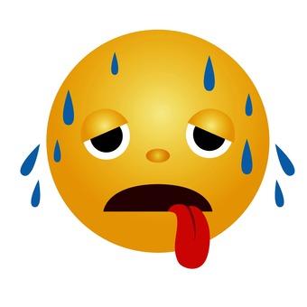 Heat stroke emoticon