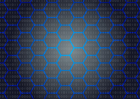Blue network abstract background material