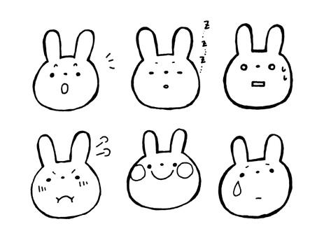 Rabbit's facial expression 1 of 1