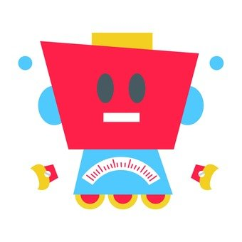Robot with red face