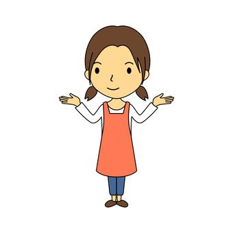 Female whole body housewife 7