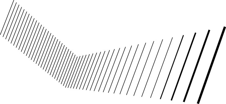 Geometric pattern of black line with depth Line line drawing