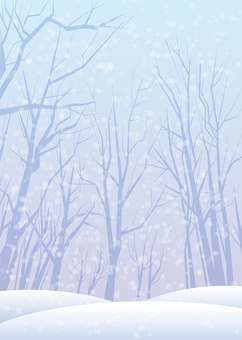 Snow scenery, background, A4 縦, Tu full pay