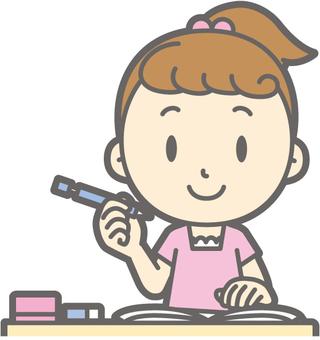 女孩短袖 - 學習 - 胸圍