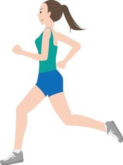 Running ladies