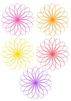 [원 포인트 소재】 꽃