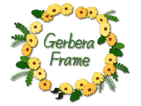 Gerbera frame with shadow