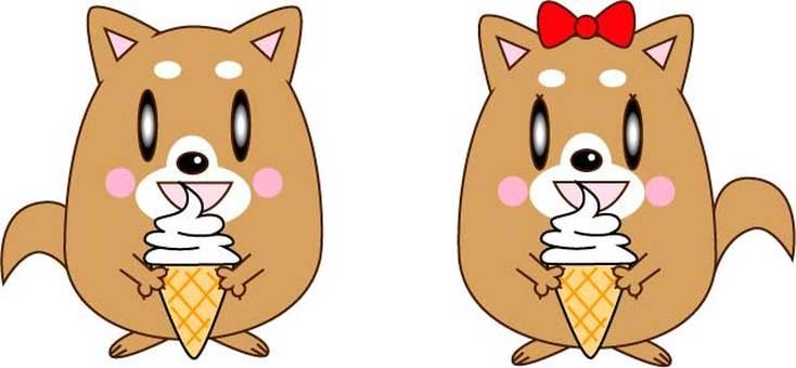 吃軟的奶油的狗夫婦
