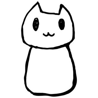 Loose cat (white)
