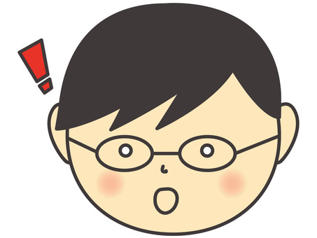 A boy wearing eyeglasses
