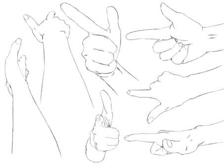 Hands, Bacon! (Line drawing)