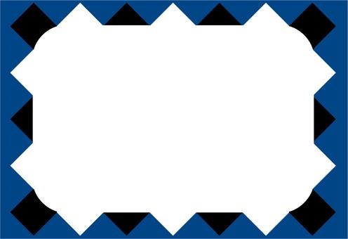 Frame checkered pattern indigo