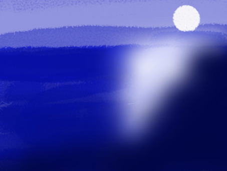 Blue sea and moon