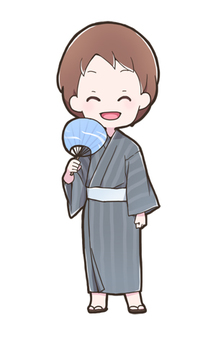 Male wearing a yukata 01_B