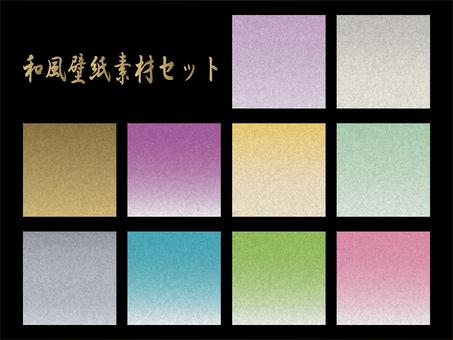 Japanese style wallpaper material set