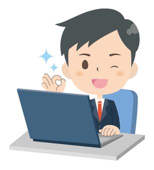 Businessman * Personal computer service 02