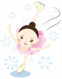 Women's Figure Skater Spiral