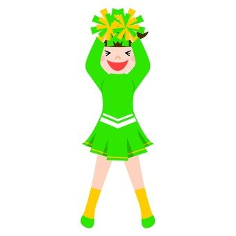 Green Cheerlead 1
