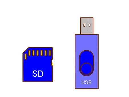 USB and SD card