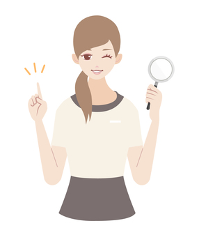 Aestheticians magnifying glass