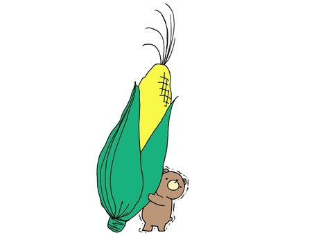 Bear and corn 1 2
