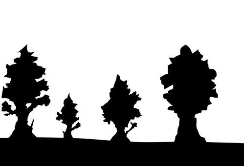 나무의 실루엣