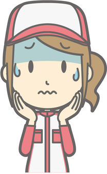 Mechanic woman - tension - bust