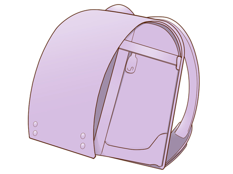 School bag (purple)