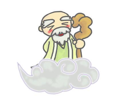 God of a sennin (a fun face)