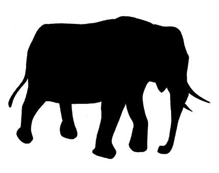 코끼리 실루엣