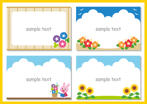 Summer flower frame set
