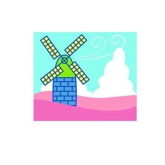 Windmill hut icon