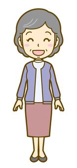 Female (elderly): B_wait 02FS