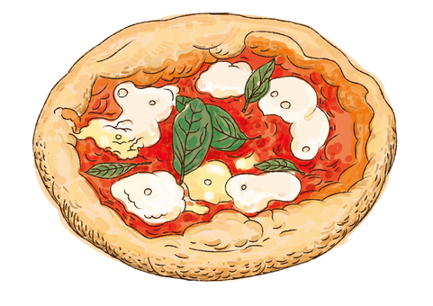 Chalk style pizza