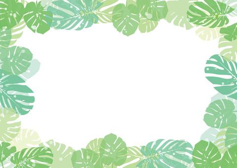 Leaf frame Monstera 1
