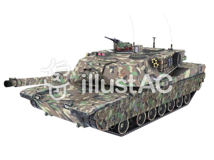 戦車(迷彩)のイラスト