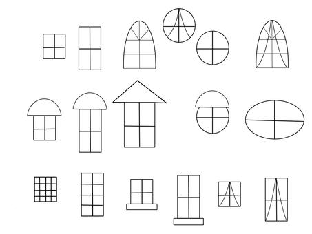 Various windows black and white