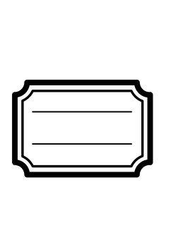 Black frame (ruled line)