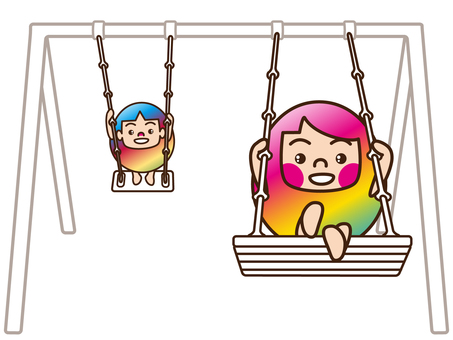 Brother and sister / swing