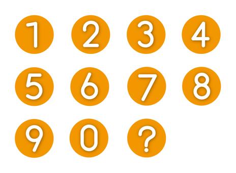 Number (Orange)