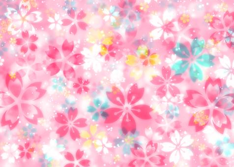 Cherry blossom pattern Flashy wallpaper Glitter