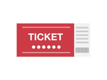Ticket (red · 1 sheet)