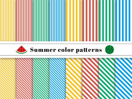 Stripe pattern swatch summer color