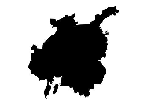 Nagoya city silhouette