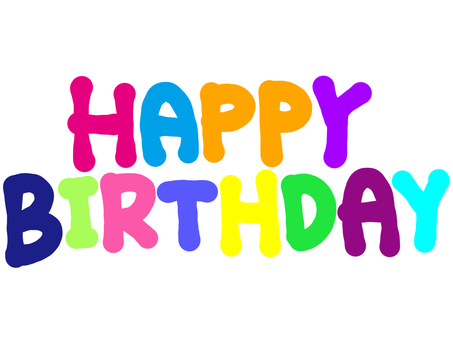 Happy birthday simple colorful
