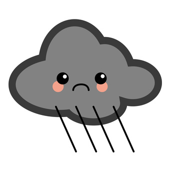Simple weather characters - rain clouds